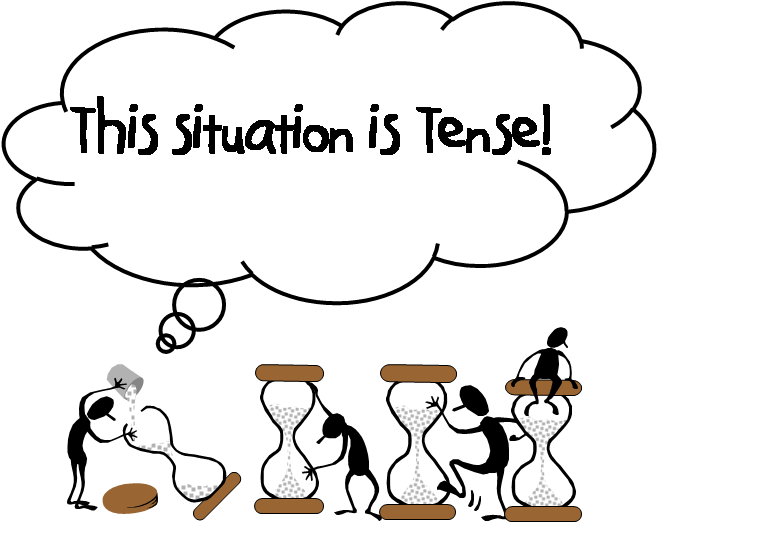 Tense Person Clipart.