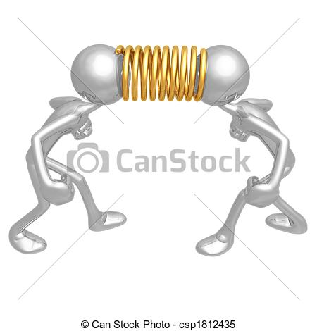 Stock Illustrations of Tension Spring.