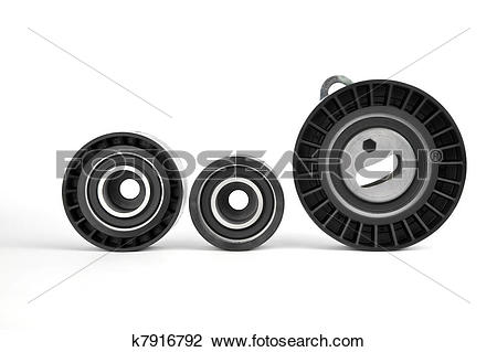 Stock Photo of pulley, roller and tensioner k7916792.