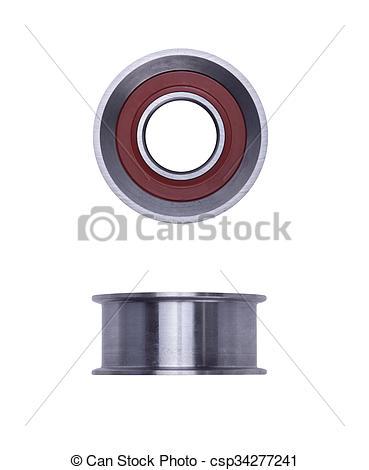 Stock Photo of timing belt tensioner roller.