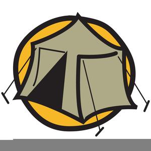 Tent Campfire Clipart.