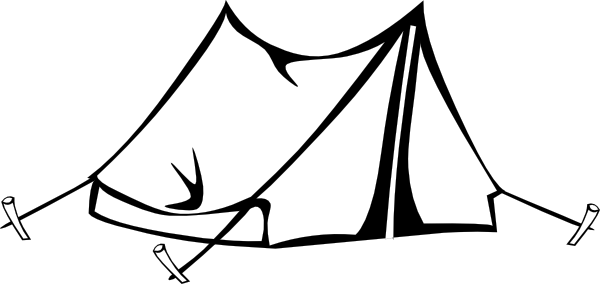 Tent black and white clipart 1 » Clipart Portal.