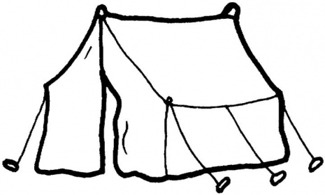 Camping Tent Black And White Clipart Clipart Suggest.