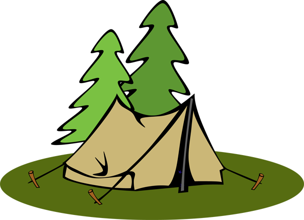 Tent Camping Clipart.