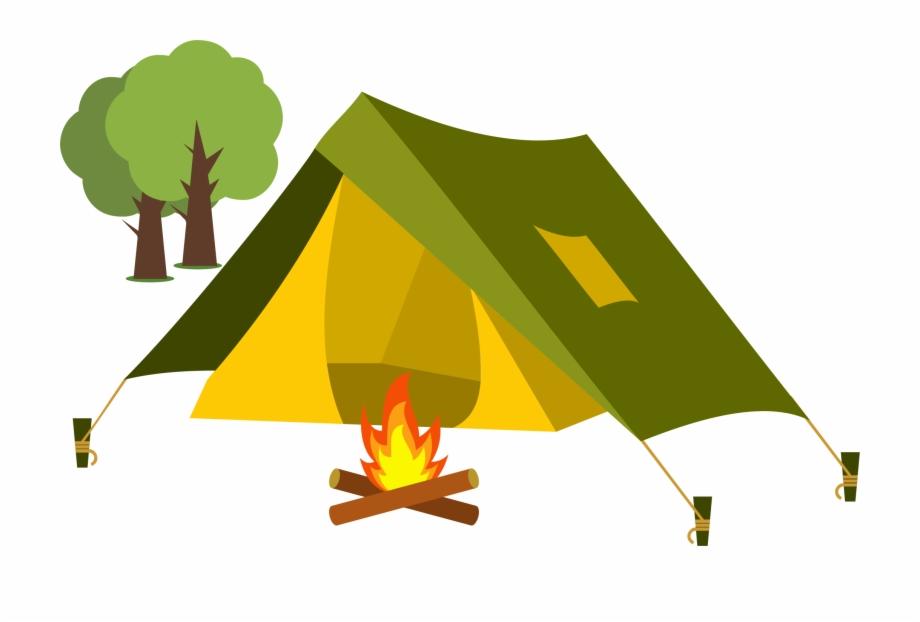 Tent Cartoon Camping Clip Art.