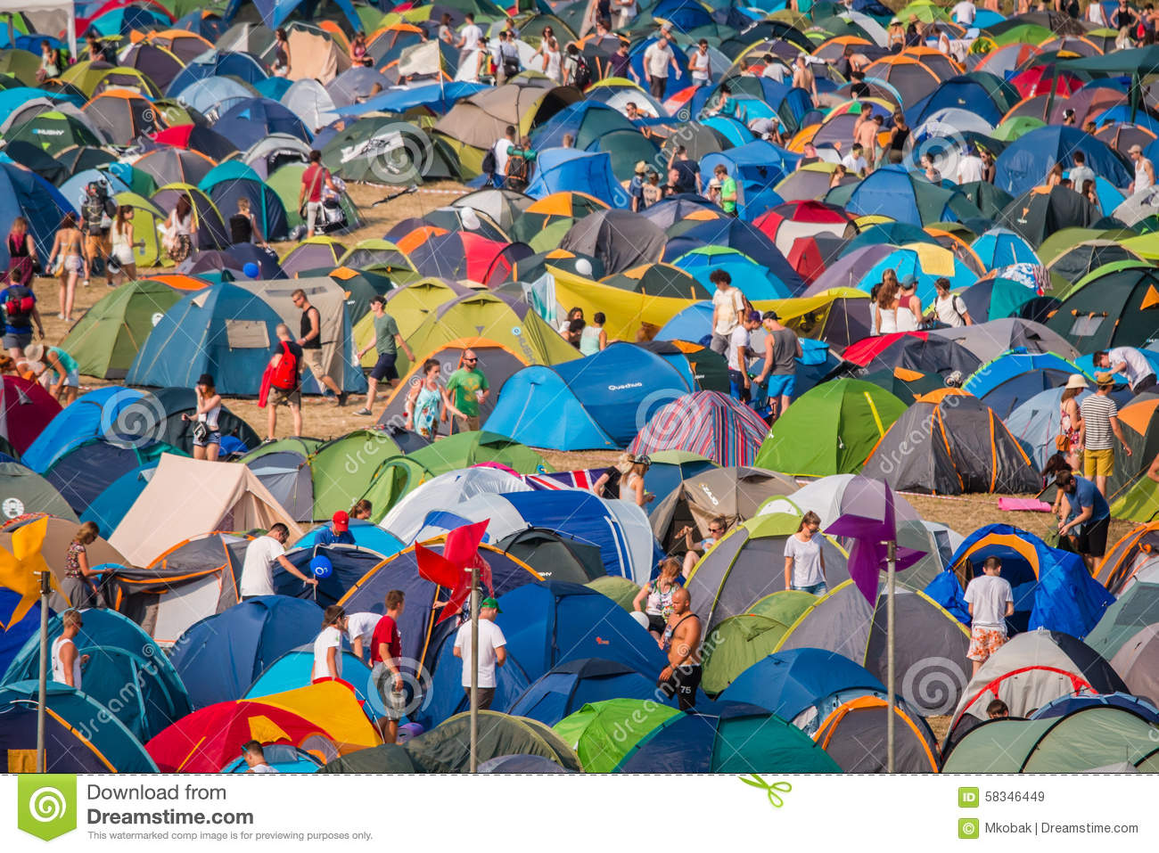 Tent City Editorial Stock Image.