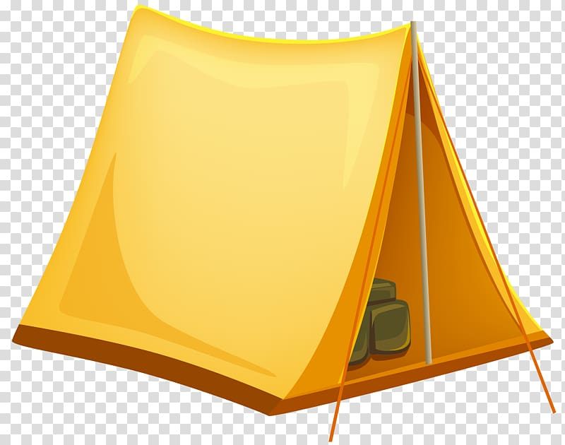 Yellow tipi tent, Tent , Tourist Tent transparent background.