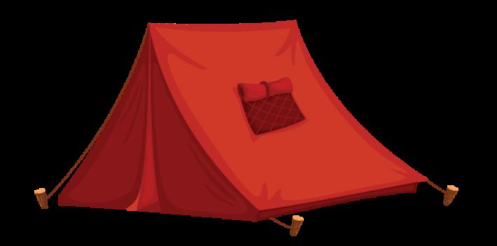 Tent clip art vector.