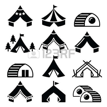 Cute Glamp Tent Clipart.