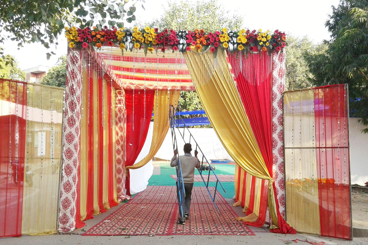 Saajan Tent House in Madangir, Delhi.