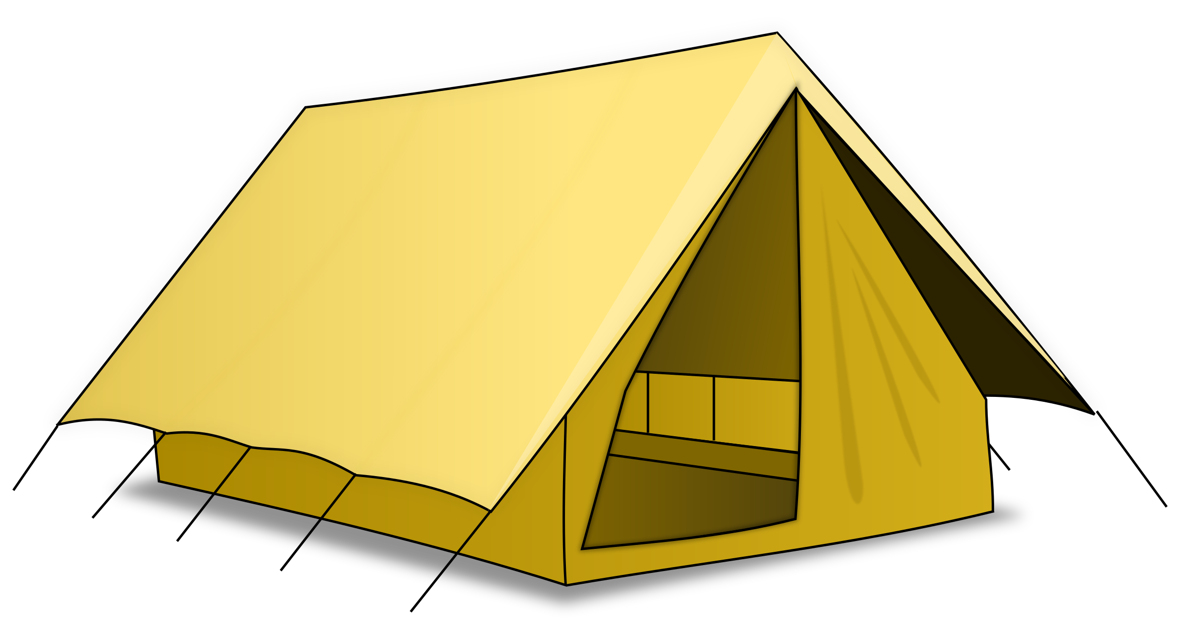 Yellow Tent PNG Image.