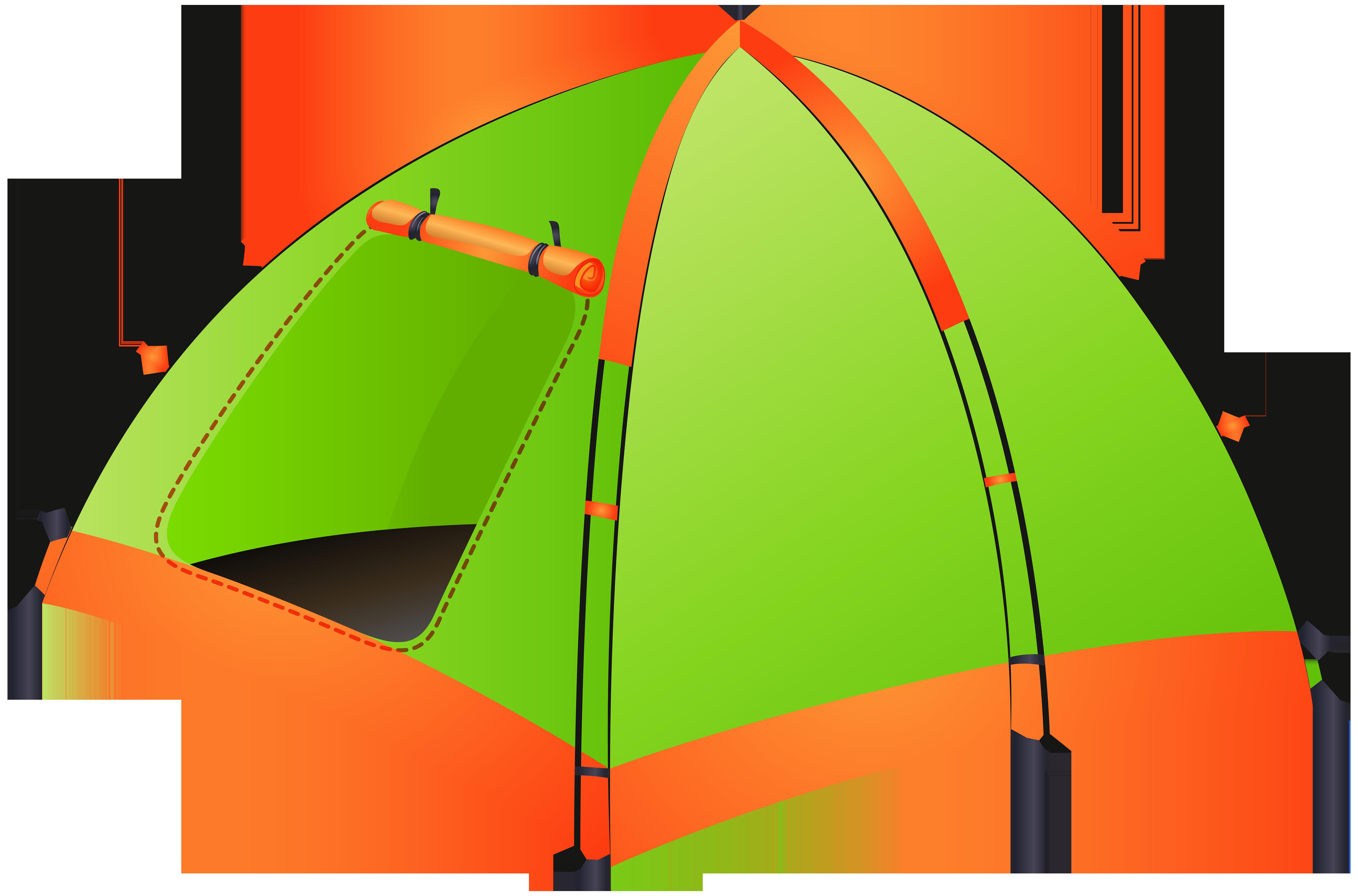 Tent Transparent PNG Clip Art Image.