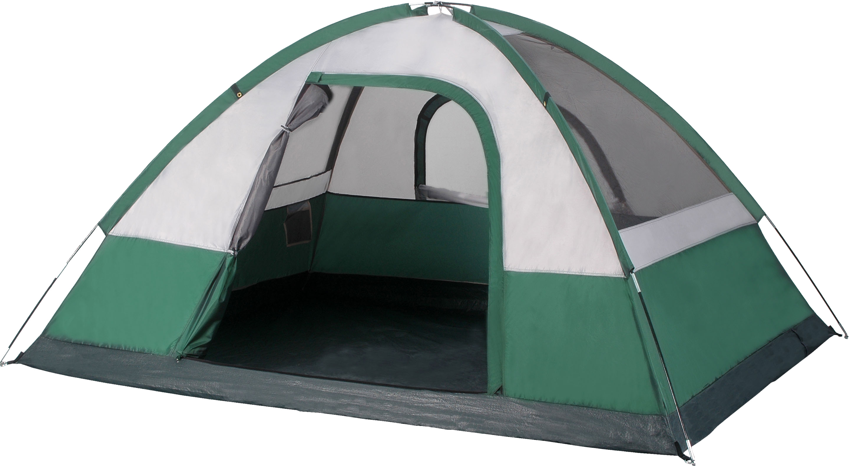 Green Tent PNG Image.
