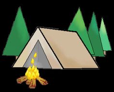 Green Tent PNG Clipart Picture.