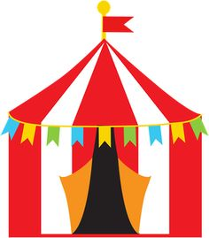 Big Top Circus/Carnival Tents Royalty Free Stock Vector Art.