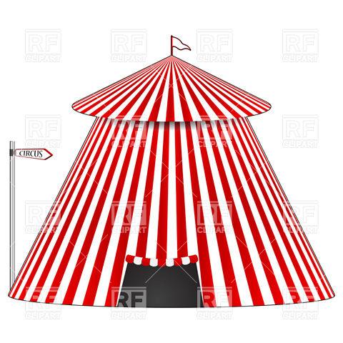 Stripy circus tent Vector Image #9659.