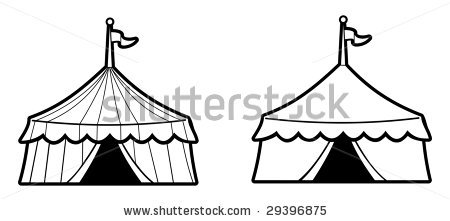Carnival Tent Outline Clipart.