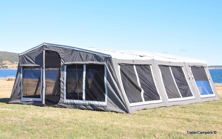6004DA Grey Tent + 2 Annexes.