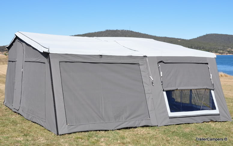 6004DA Grey Tent + 2 Annexes.
