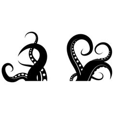 Tentacle icon clipart.