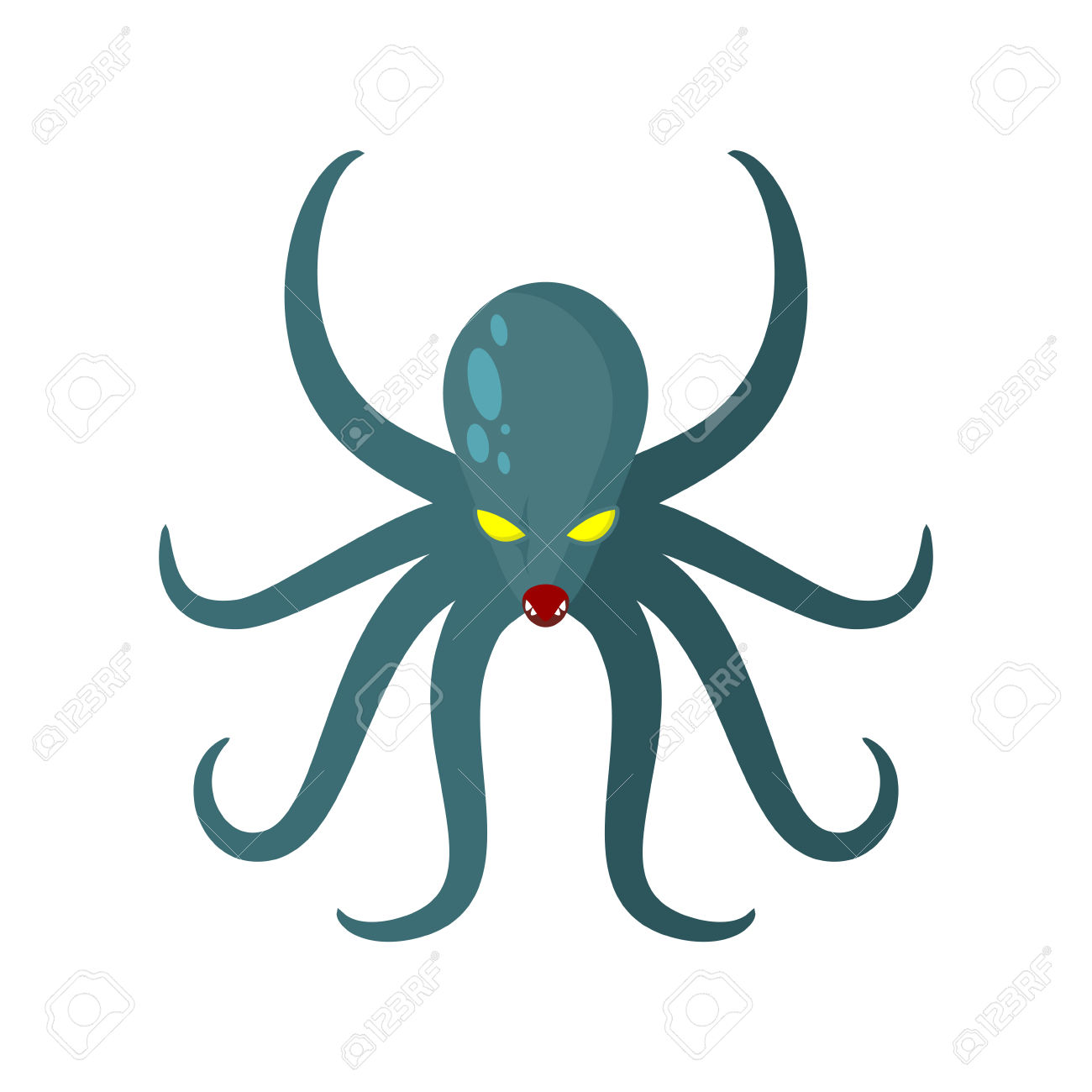 tentacle clipart vector clip art of a green skull ghost with.