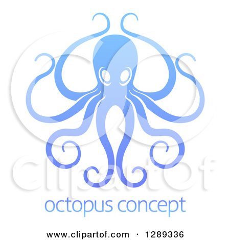 Pink Octopus With Long Tentacles Clipart Illustration by.
