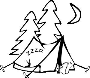Sleeping In A Tent Clip Art at Clker.com.
