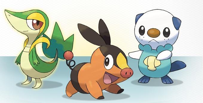 Meet Snivy, Oshawott and Tepig, Pokemon Fans.