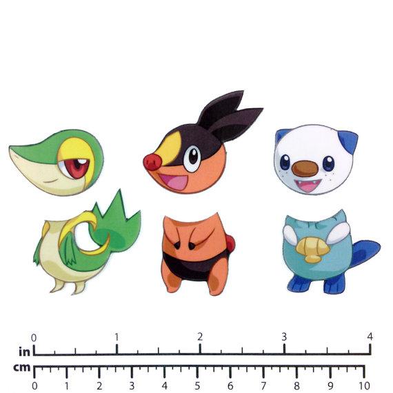 Mix and Match Magnets: Snivy Tepig Oshawott Pokemon Starter.