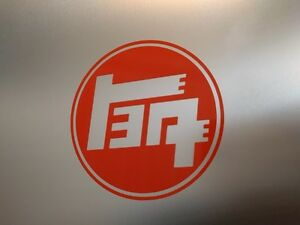 Details about 2 pack 1930\'s Toyota TEQ Logo Vinyl Decal Sticker Gloss  Orange 5\
