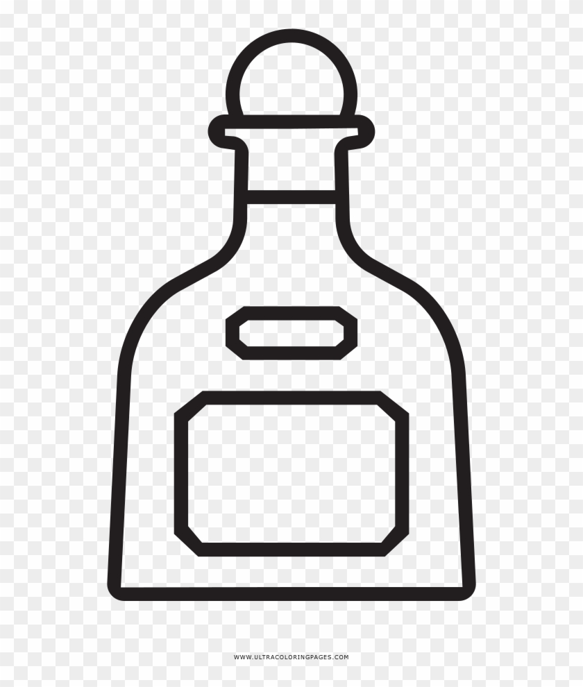 Tequila Bottle Coloring Page.