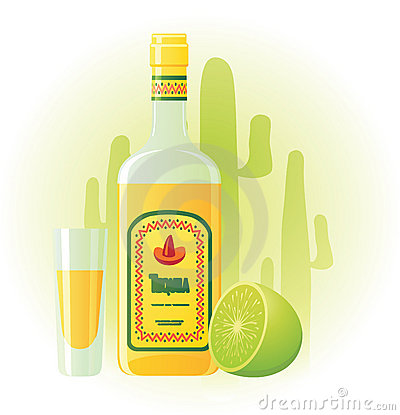 Shot Glass Tequila Stock Illustrations.