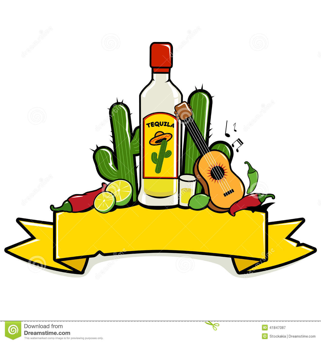 Mexican Drinks Clipart.