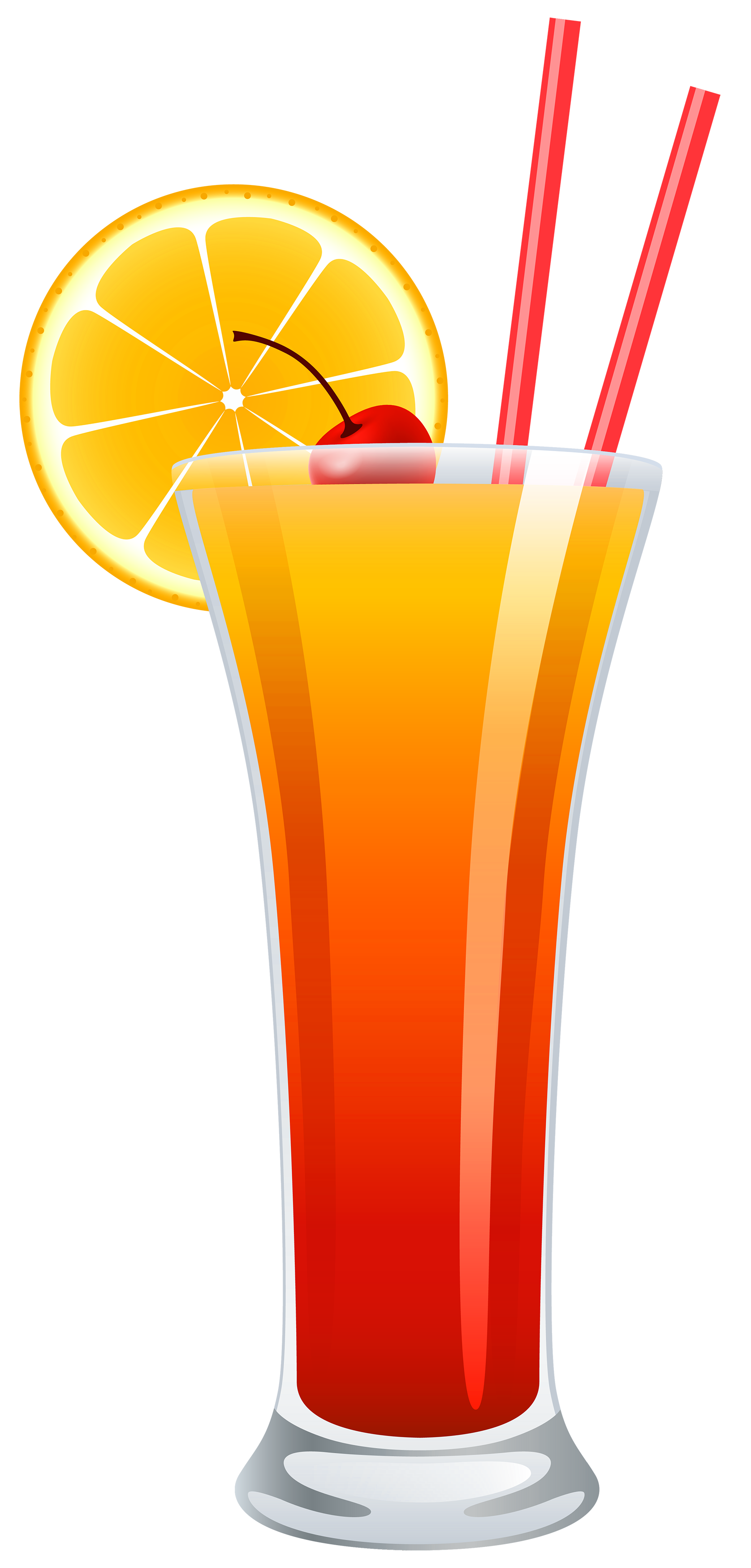 Cocktail Tequila Sunrise PNG Clipart.