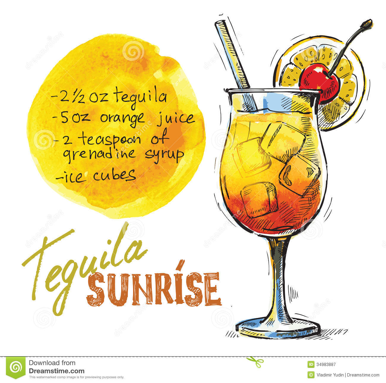 Showing post & media for Tequila sunrise cartoon.