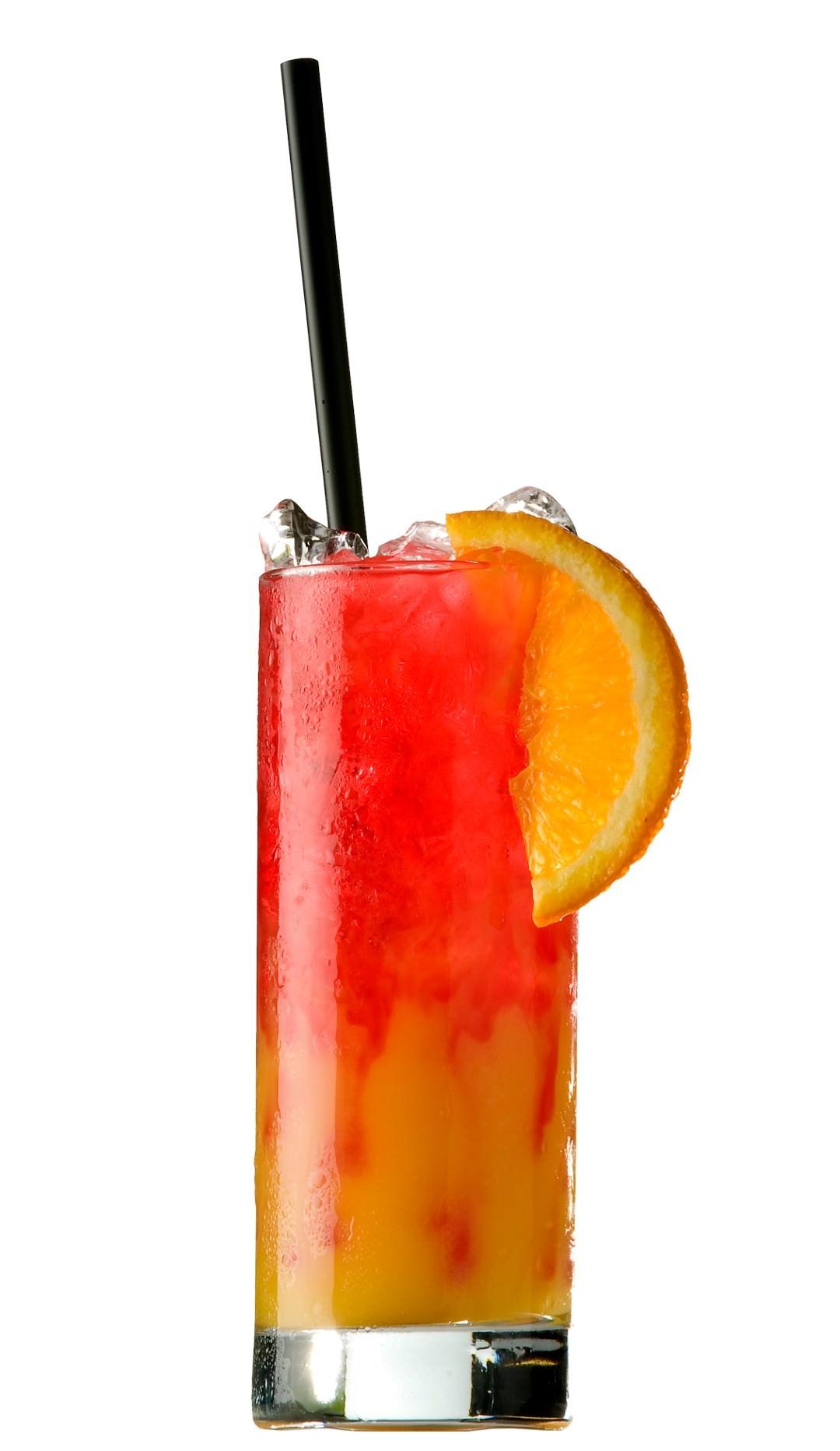 Tequila Sunrise cocktail recipe.