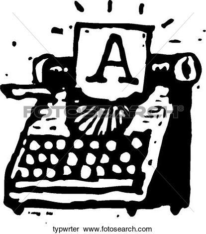 Clipart of Typewriter typwrter.