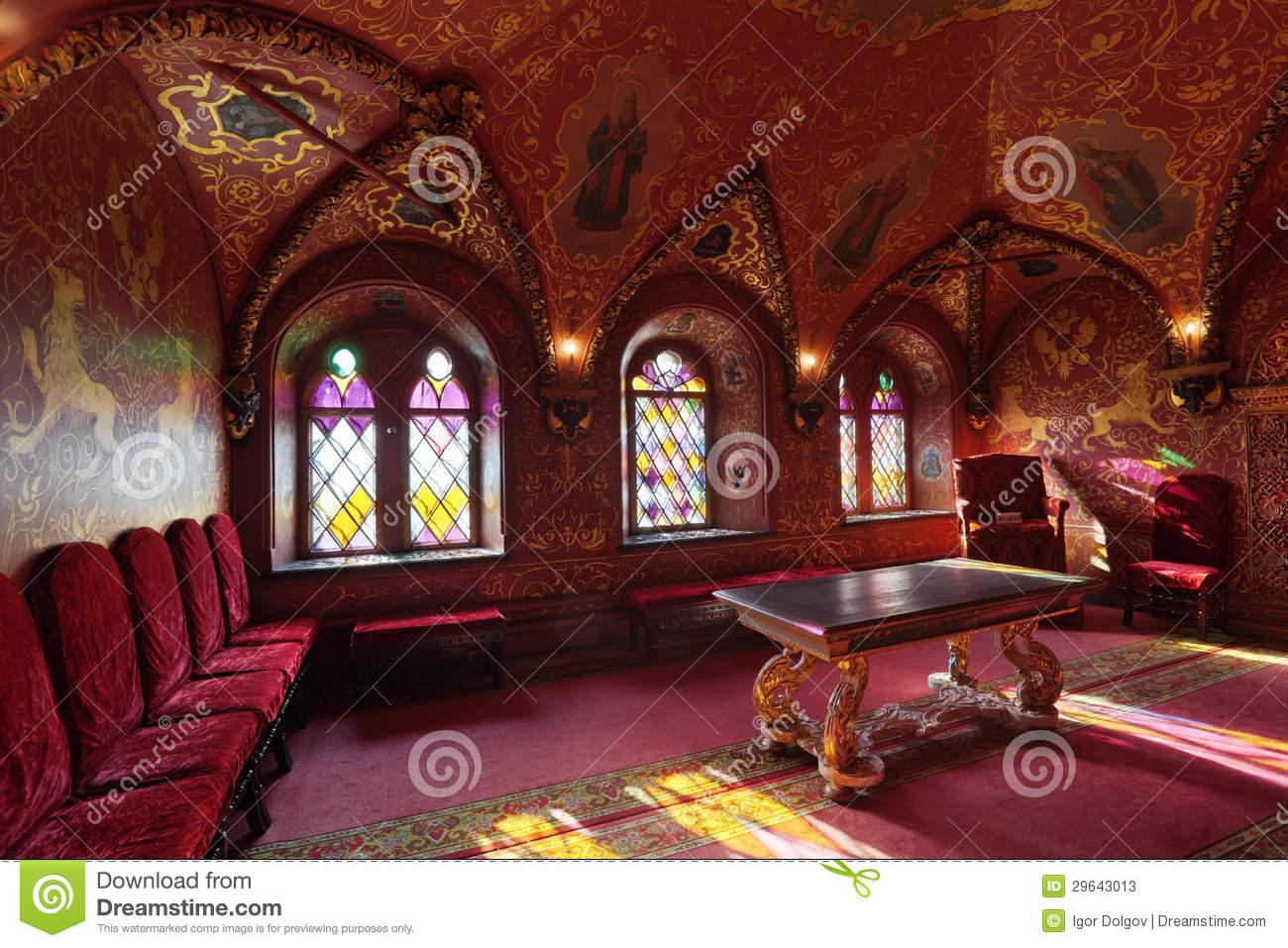 Terem Palace, The Cross Chamber Stock Photos.