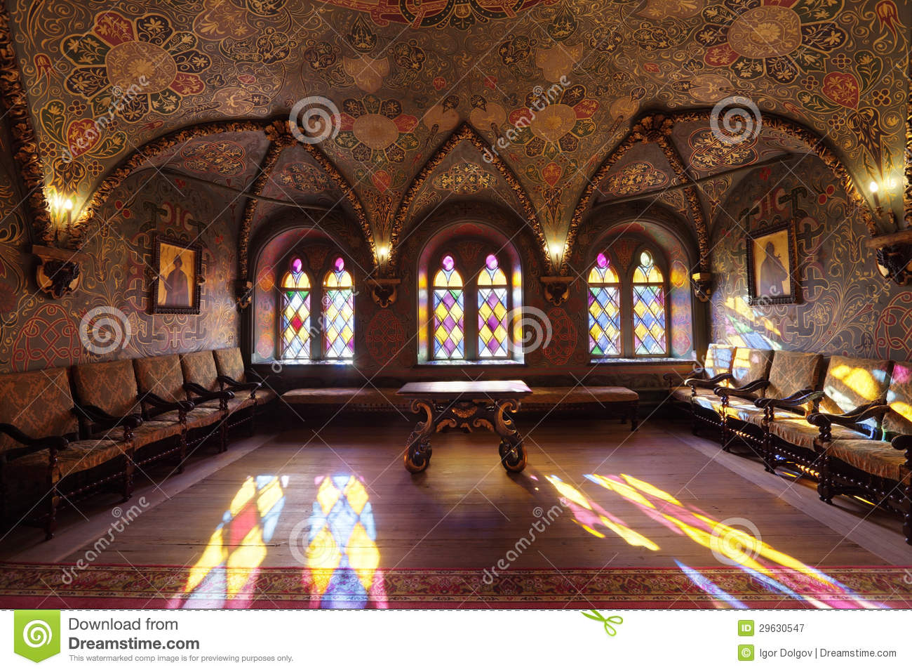 Terem Palace, Luxurious Interior Royalty Free Stock Photography.