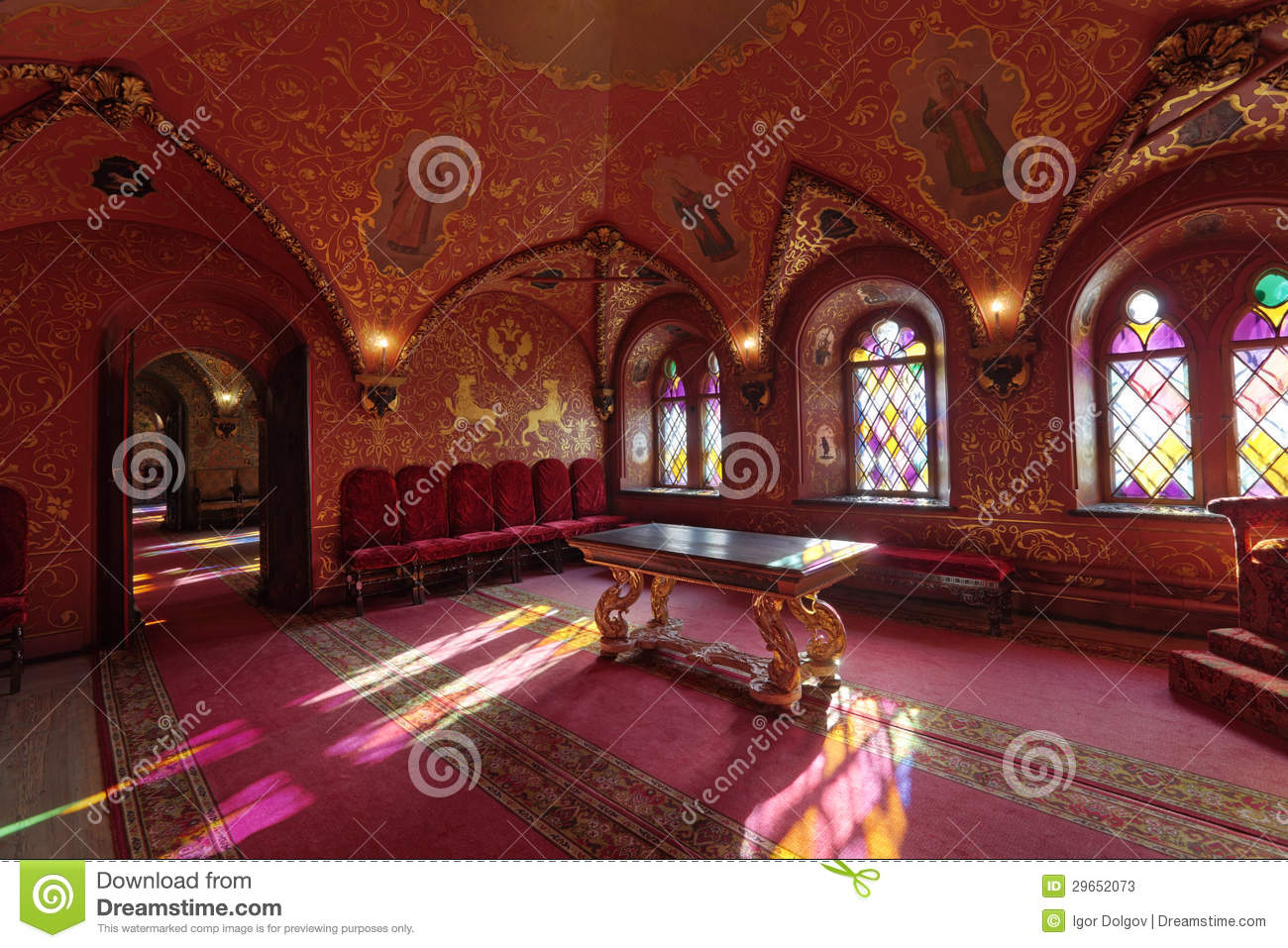 Terem Palace, The Cross Chamber Stock Photos.