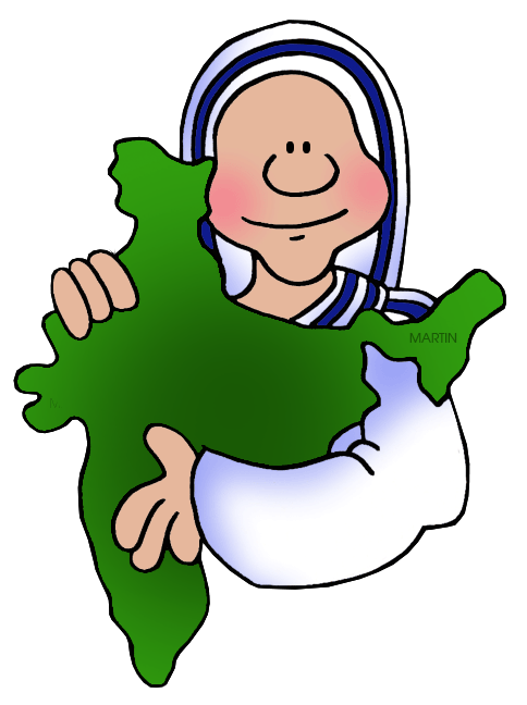 Free India Clip Art by Phillip Martin, Mother Teresa.
