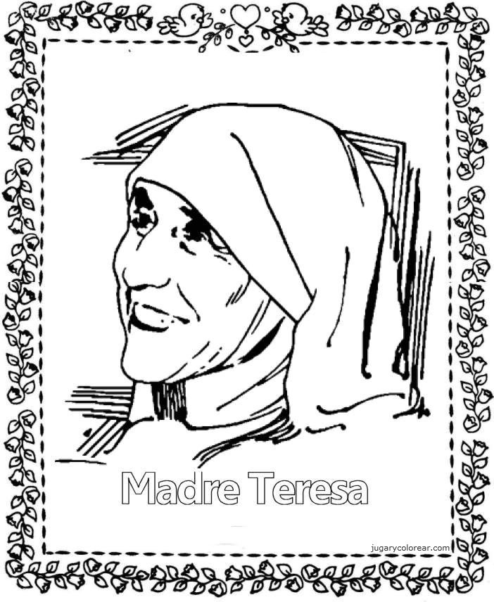 Mother Teresa coloring pages.