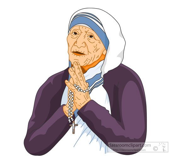 Mother teresa clipart.