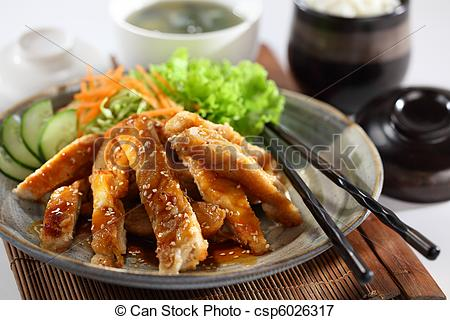 Picture of Teriyaki Chicken. One of the best Japanese chicken.