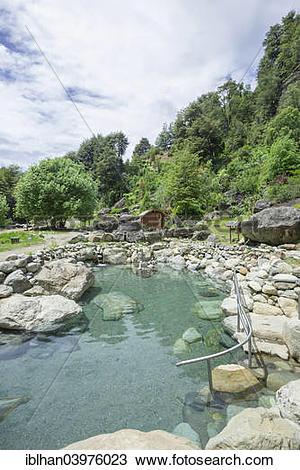 "Stock Photo of ""Thermal pools of Termas los Pozones, Pucon."