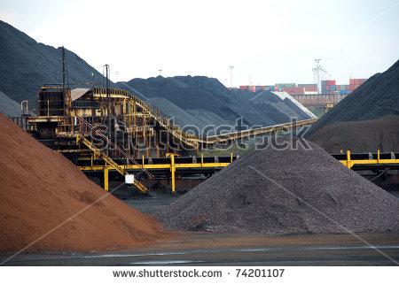 Coal Port Stock Photos, Royalty.
