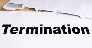 Termination Royalty Free Stock Images.
