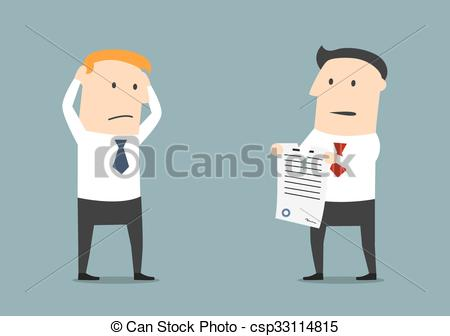 Vector Clip Art of Termination of business contract or partnership.