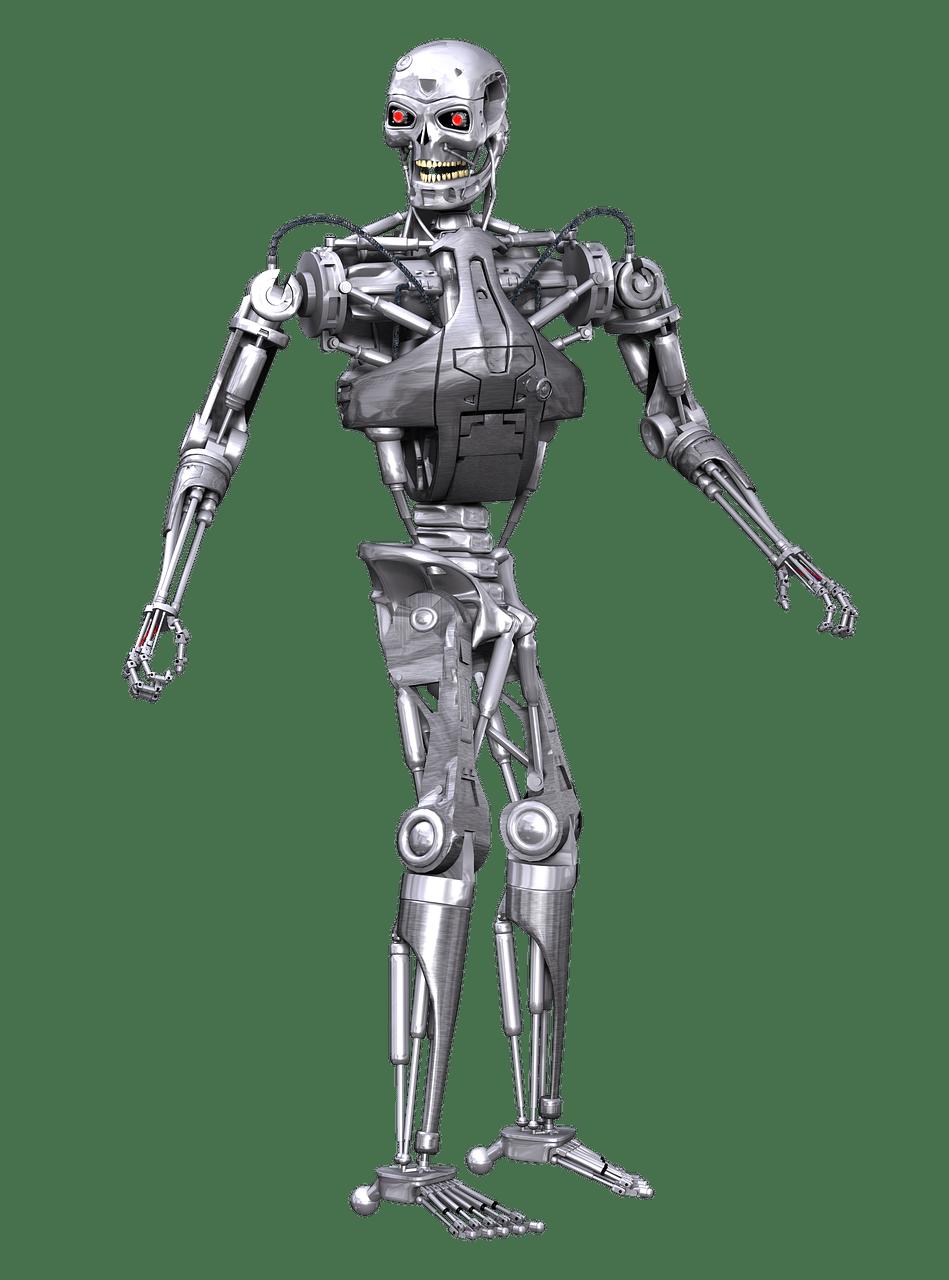 Robot Terminator transparent PNG.