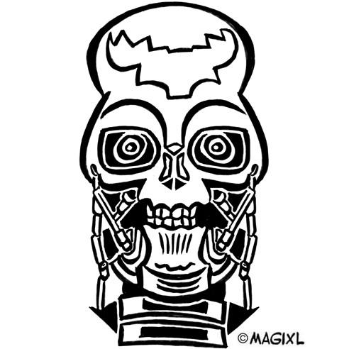 Terminator head clipart.